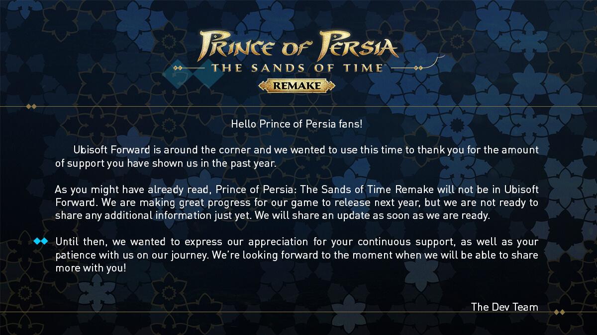 Prince of Persia Remake отложен до 2022 года