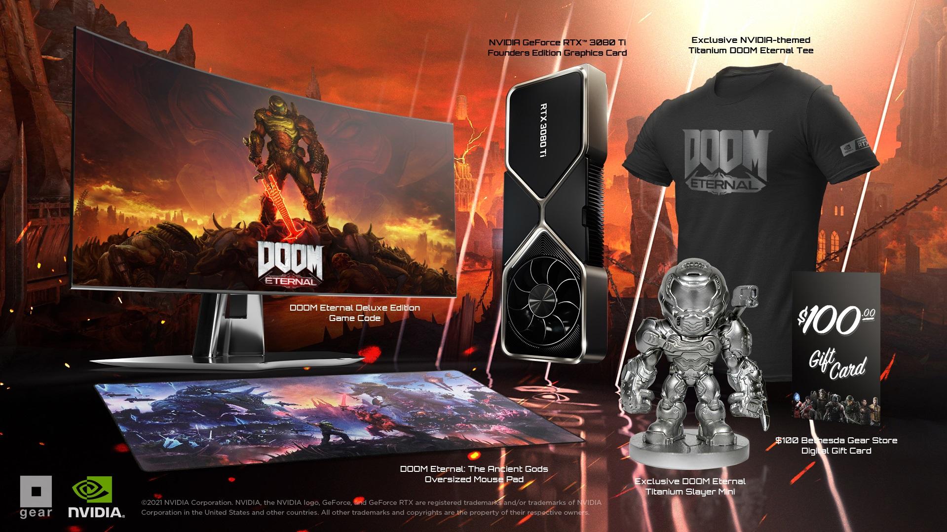 Nvidia и Bethesda анонсировали набор с GeForce RTX 3080 Ti для фанатов Doom Eternal