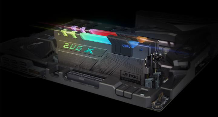 киты памяти GeIL EVO X ROG-Certified RGB