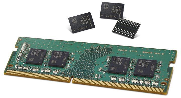 Самсунг начинает выпускать новые чипы памяти DDR4 DRAM по10-нм техпроцессу