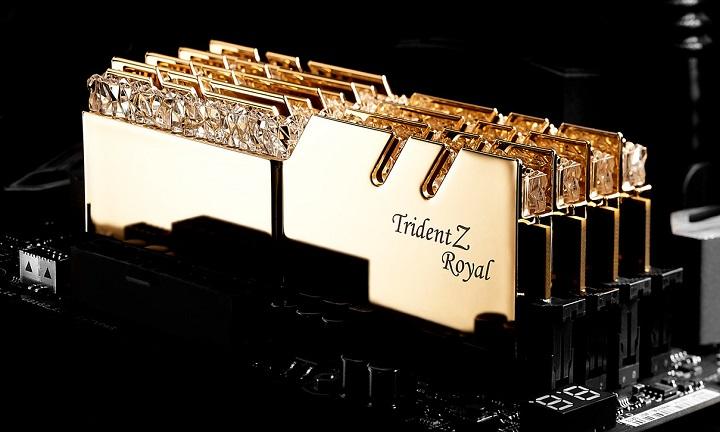 G.Skill представила комплекты памяти Trident Z Royal стандарта DDR4