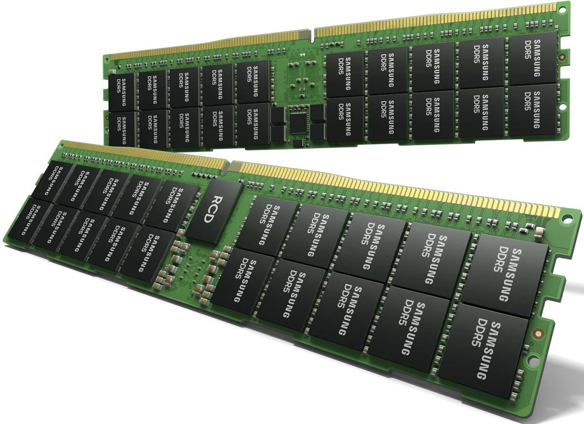 Samsung анонсировала серверные модули DDR5 объёмом 512 Гбайт