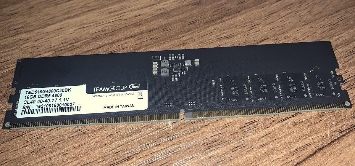 В продажу поступил 32-гигабайтный набор памяти Team Group Elite DDR5-4800