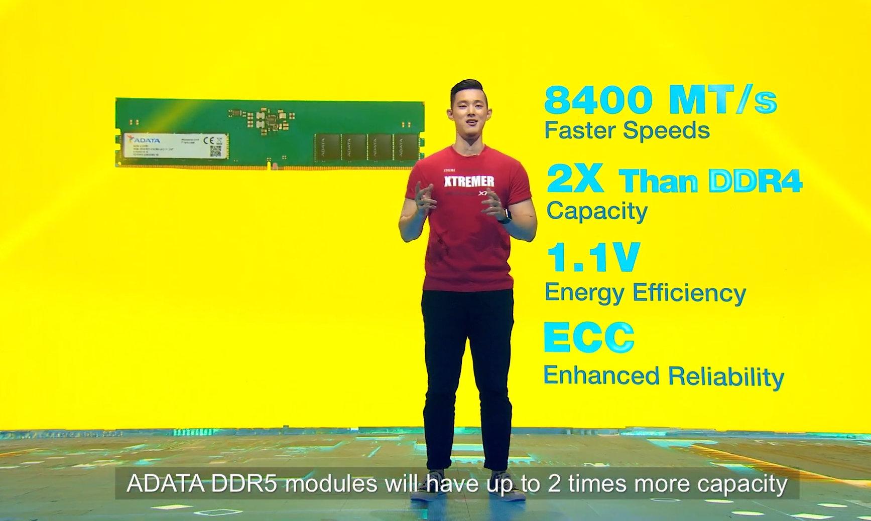 Adata предложит модули XPG DDR5 с эффективной частотой до 12,6 ГГц