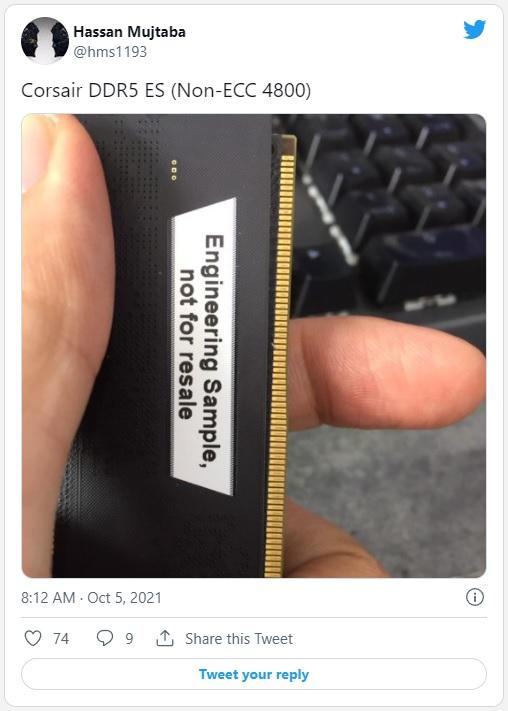 Corsair, Kingston и Colorful начали активно готовиться к релизу модулей DDR5