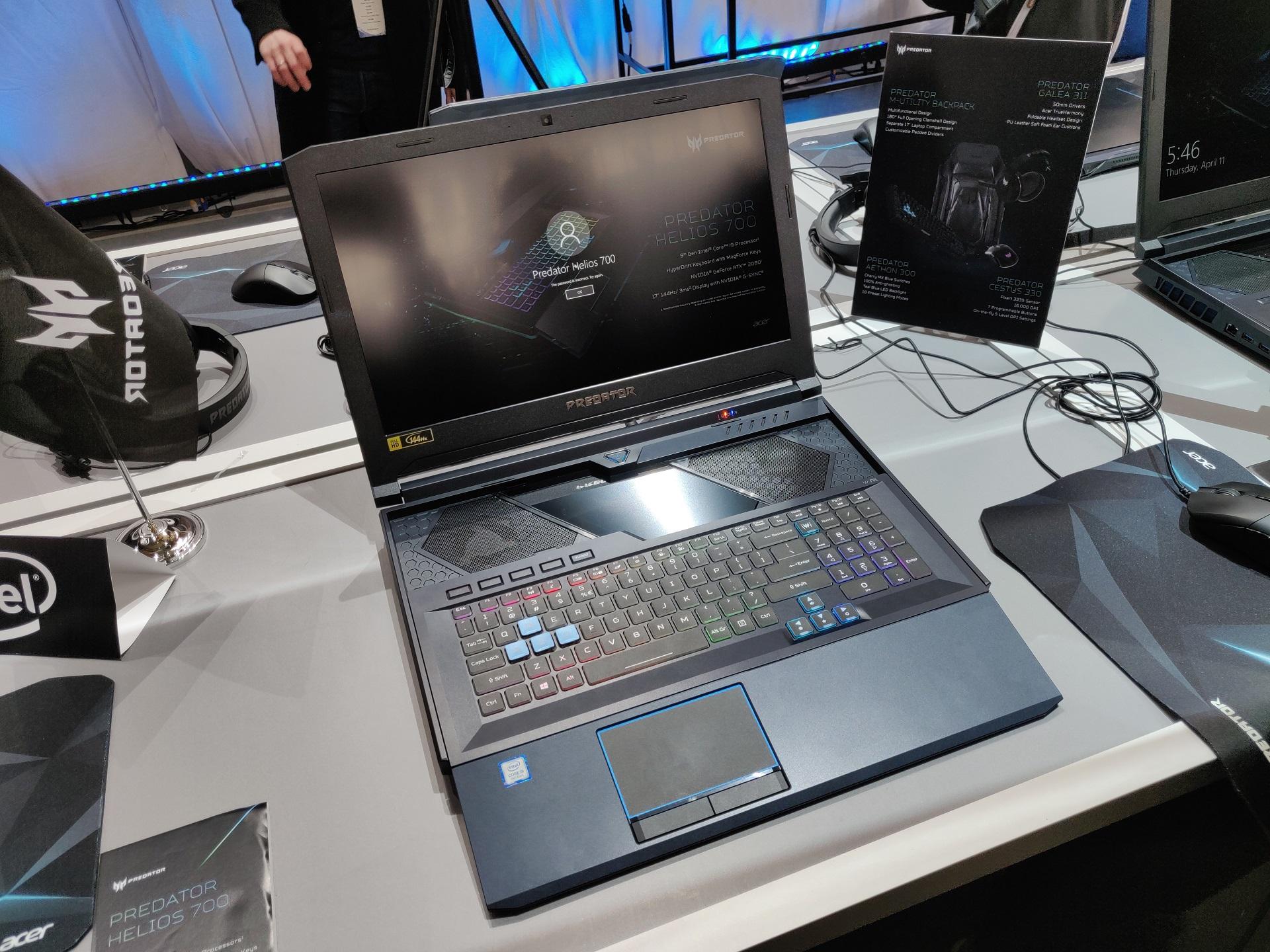 Игровой ноутбук Acer Predator Helios 700 получил выдвижную