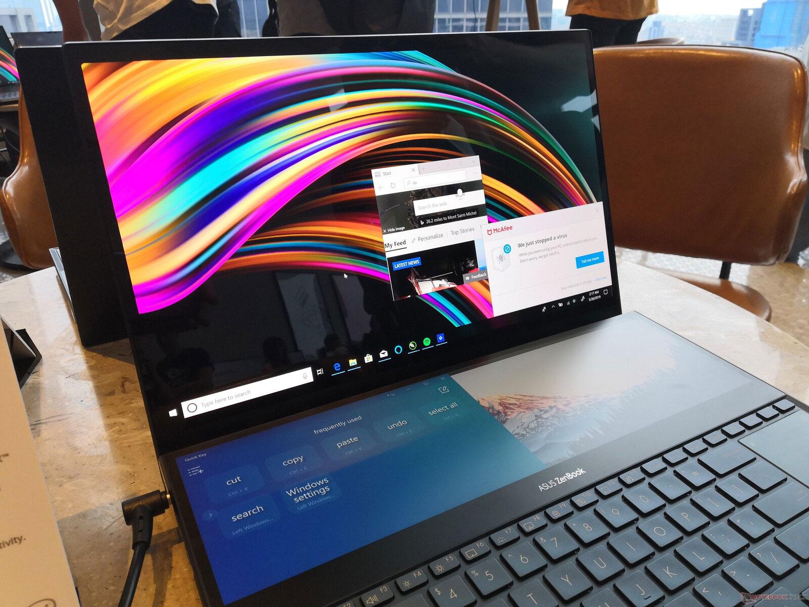 Computex 2019: ноутбуки ASUS ZenBook Pro Duo и ZenBook