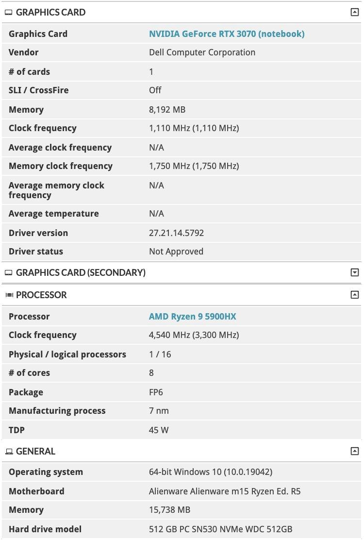 AMD Ryzen 5000 послужат основой новых игровых лэптопов от Razer, Dell и HP