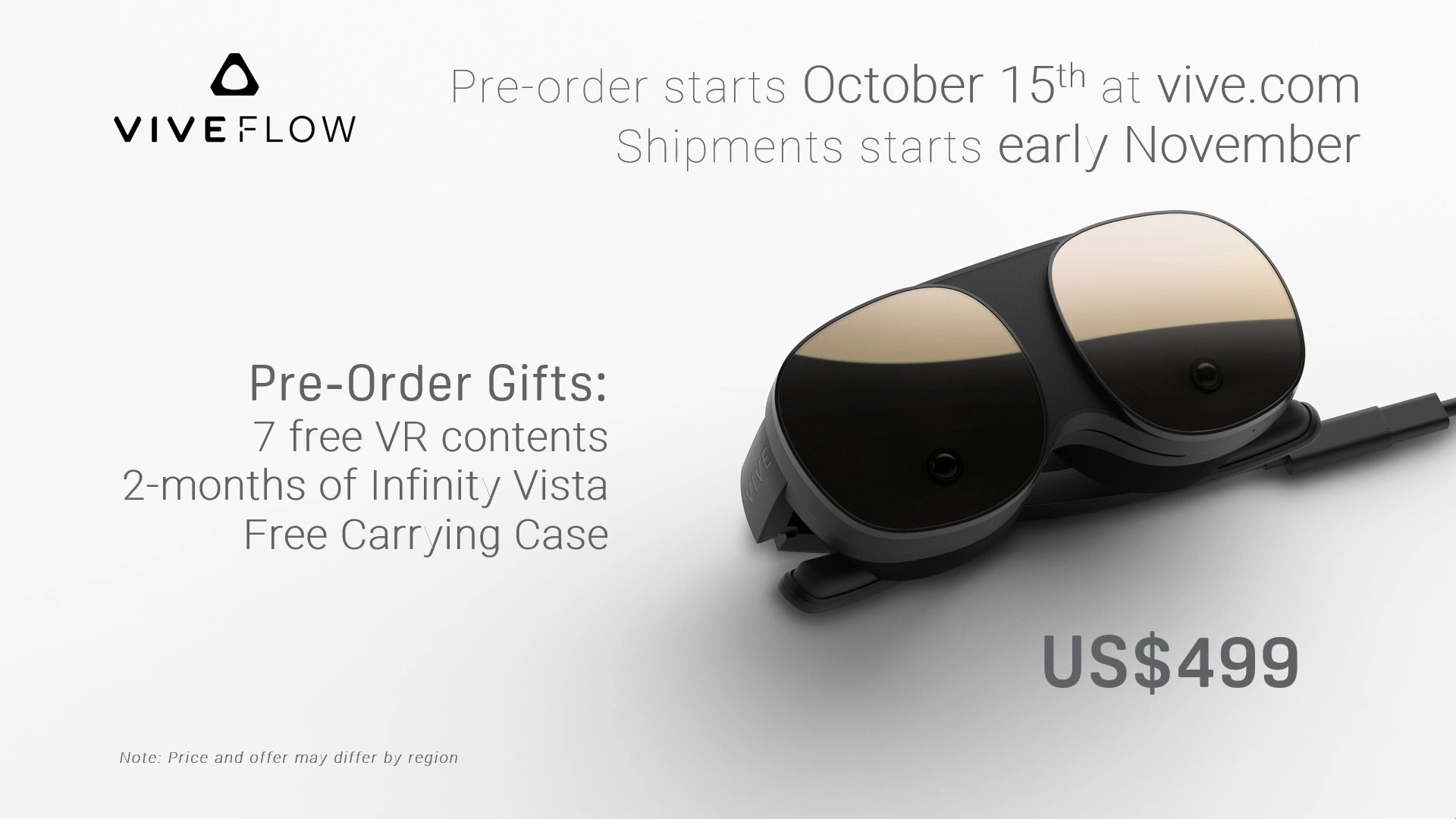 HTC готовит автономную VR-гарнитуру Vive Flow