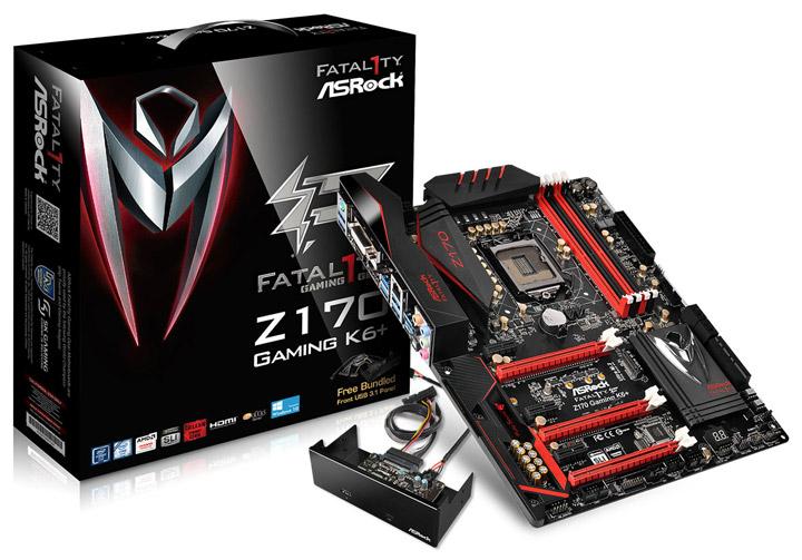 Маетринская плата ASRock Fatal1ty Z170 Gaming K6+