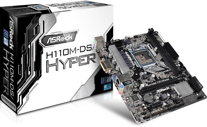 ASRock представила недорогую материнскую плату для игроков - H110M-DS Hyper