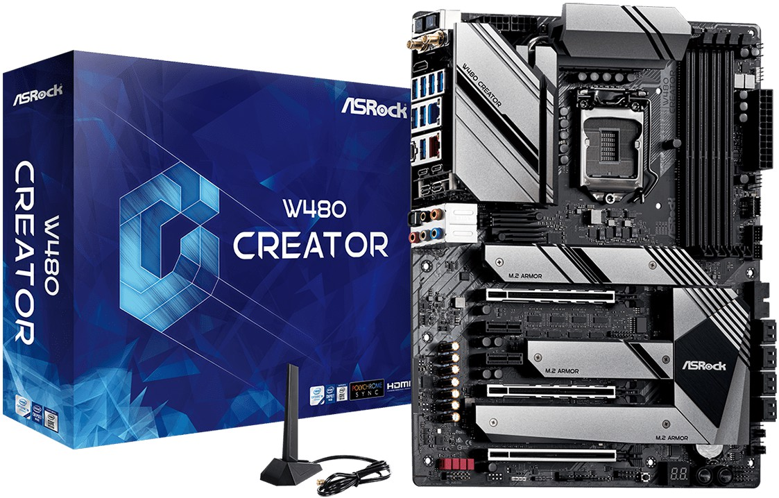 ASRock представила системную плату W480 Creator