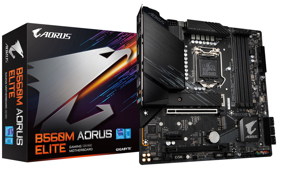 Intel Core i9-11900K работает на 5,1 ГГц в материнской плате Gigabyte B560 Aorus