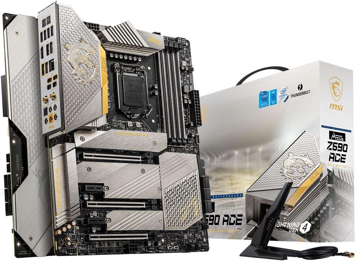 MSI предложит материнскую плату MEG Z590 Ace в версии Gold Edition