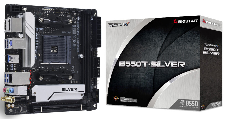 Biostar представила материнскую плату B550T-Silver в формате Mini-ITX