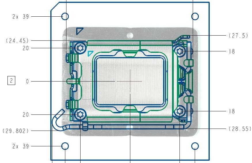 Фото прототипа системной платы Intel LGA1700/Z690