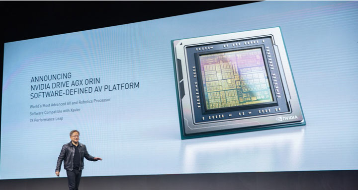 Nvidia представила программно-аппаратную платформу Drive AGX Orin