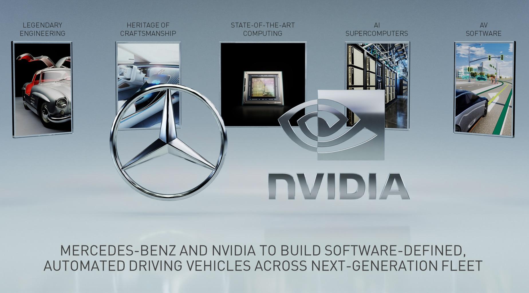 Платформа Nvidia Drive будет использоваться в автомобилях Mercedes-Benz
