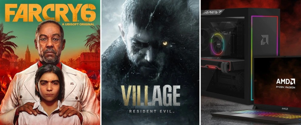 AMD дарит Far Cry 6 и Resident Evil Village покупателям игровых ПК и ноутбуков