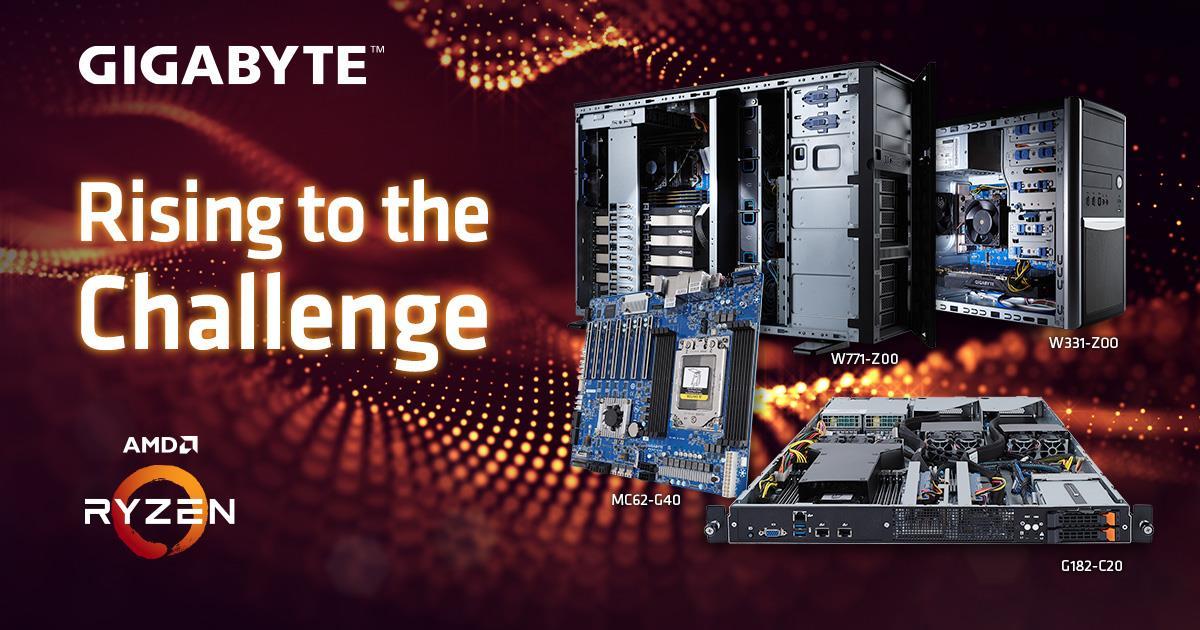 Gigabyte расширяет линейку продуктов для рабочих станций на базе AMD Ryzen