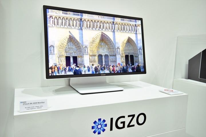 Sharp представила экран IGZO сплотностью неменее тысяча ppi