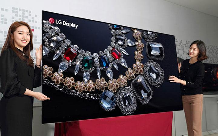 LGпоказала 1-ый вмире 8K OLED-дисплей