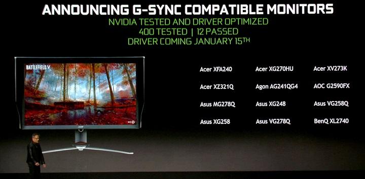 Nvidia расширяет список мониторов категории G-Sync Compatible