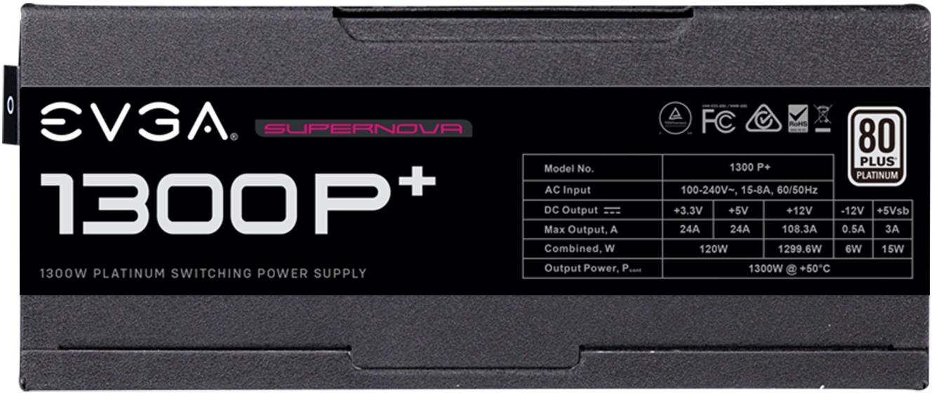 EVGA выпускает блоки питания SuperNova P+ номиналом 1300 и 1600 Вт