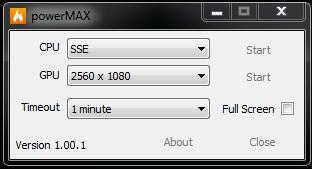 Программа powerMAX 1.0.0.1