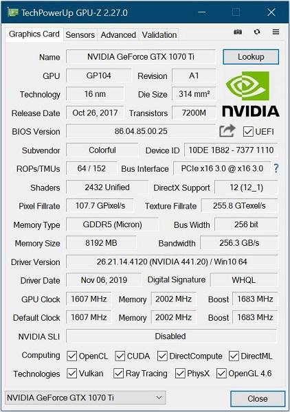 GPU-Z v2.27.0