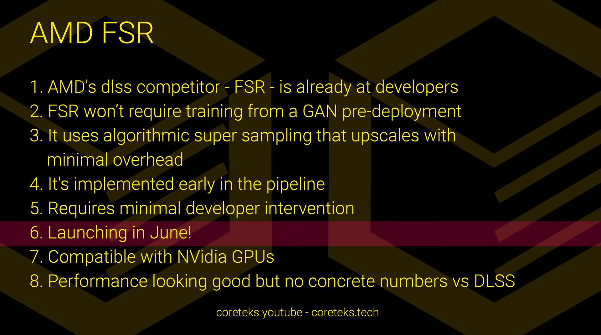 Слух: AMD представит свой аналог Nvidia DLSS в следующем месяце