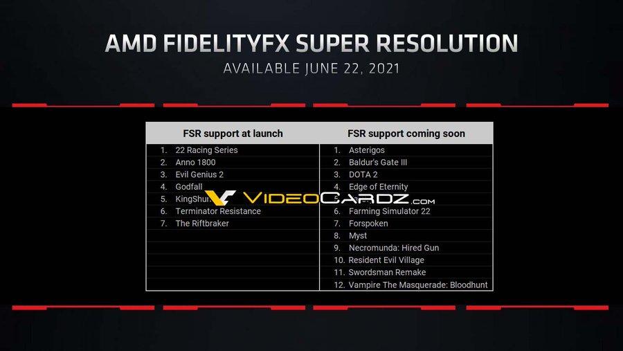 AMD FidelityFX Super Resolution на премьере будет доступна в семи играх / Новости / Overclockers.ua