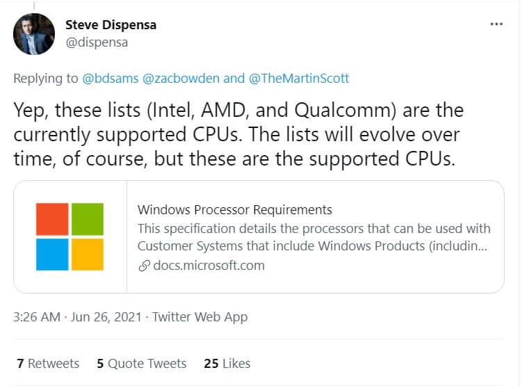 Windows 11 не поддерживает процессоры старше трех лет