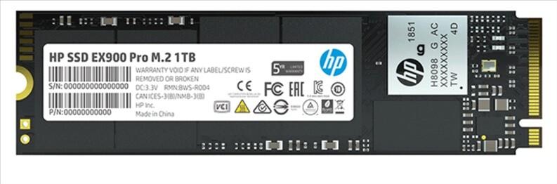HP представила NVMe-накопители EX900 Pro