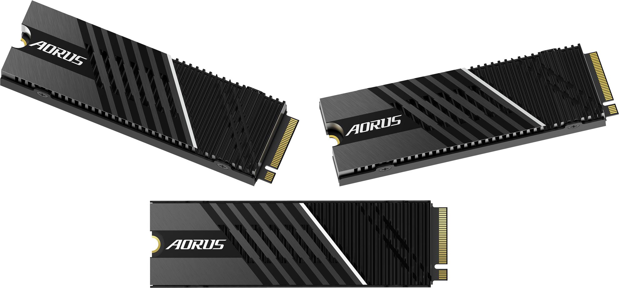 Gigabyte представила скоростные NVMe-накопители Aorus Gen4 7000s