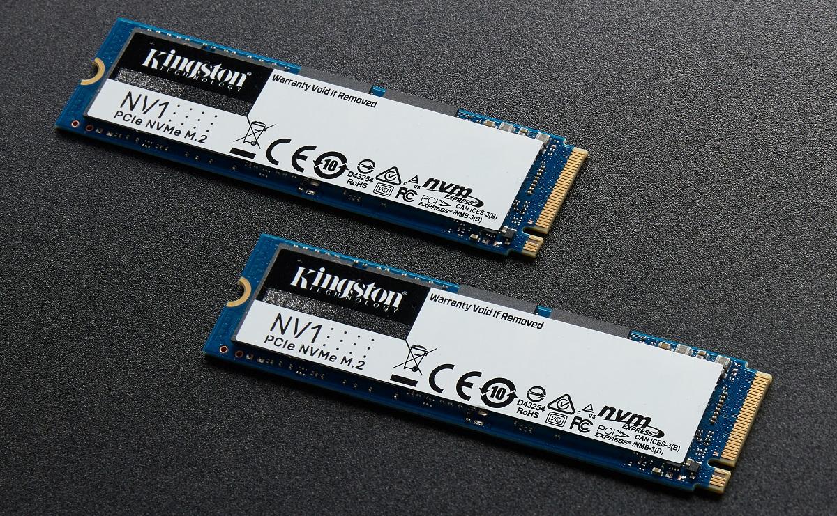 Kingston выпустила серию доступных NVMe-накопителей NV1