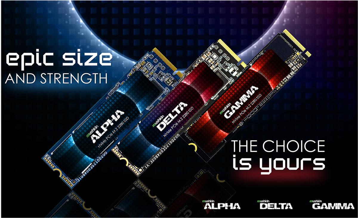 Mushkin выпустила серии NVMe-накопителей Delta и Gamma