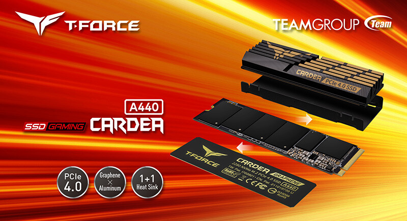 Team Group представила твердотельный накопитель T-Force Cardea A440 PCIe 4.0