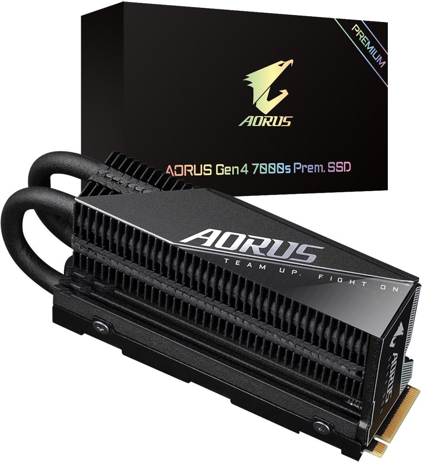 Gigabyte оснастила NVMe-накопители Aorus Gen4 7000s Prem. крупным радиатором