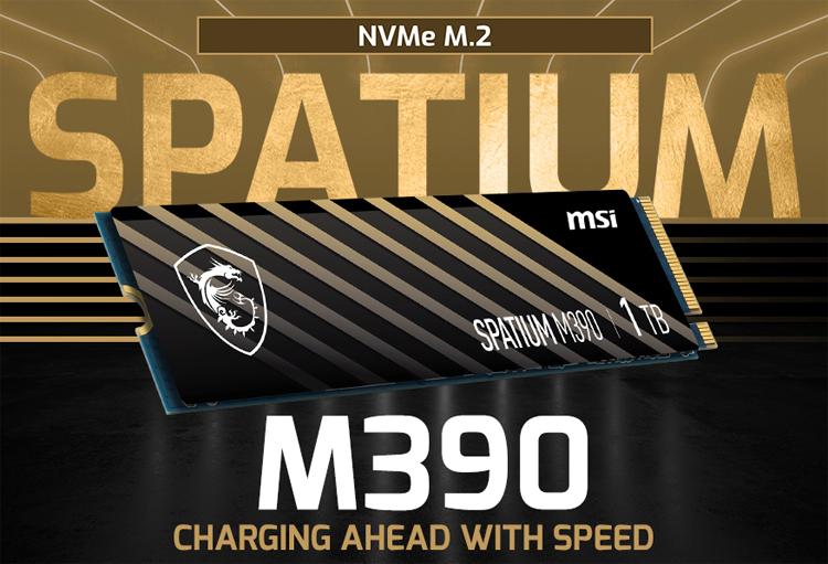 MSI представила твердотельный накопитель Spatium M390