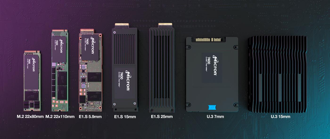 Micron представила серию NVMe-накопителей 7400 корпоративного класса
