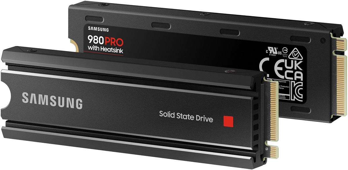 NVMe-накопители Samsung 980 Pro обзавелись предустановленным радиатором