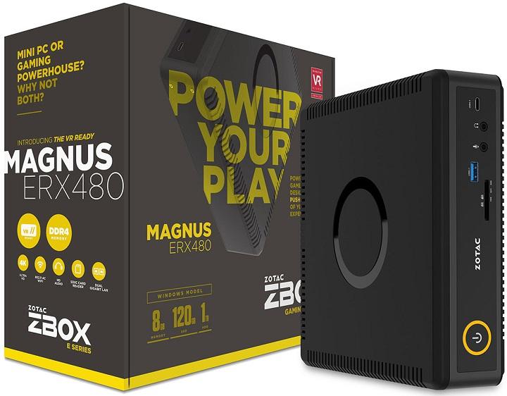 Zotac представила мини-ПК Zbox Magnus ERX480 свидеоадаптером RadeonRX 480