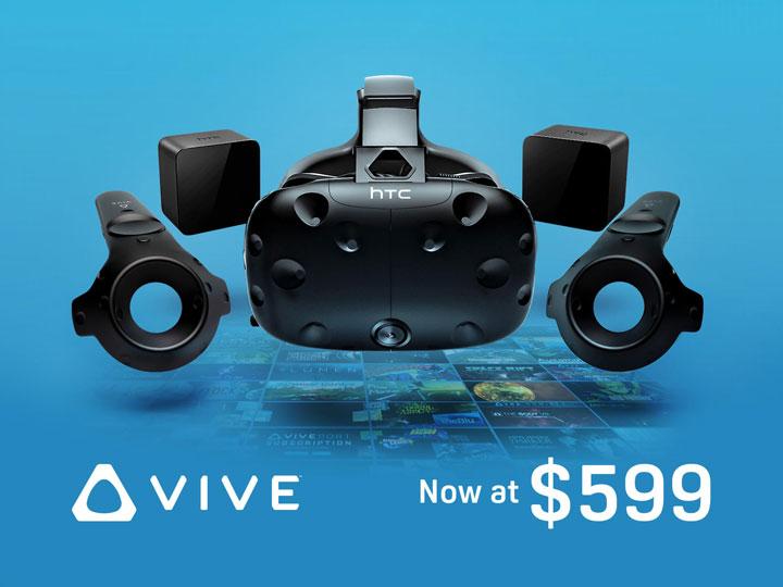 Шлем виртуальной реальности HTC Vive упал вцене на200 долларов