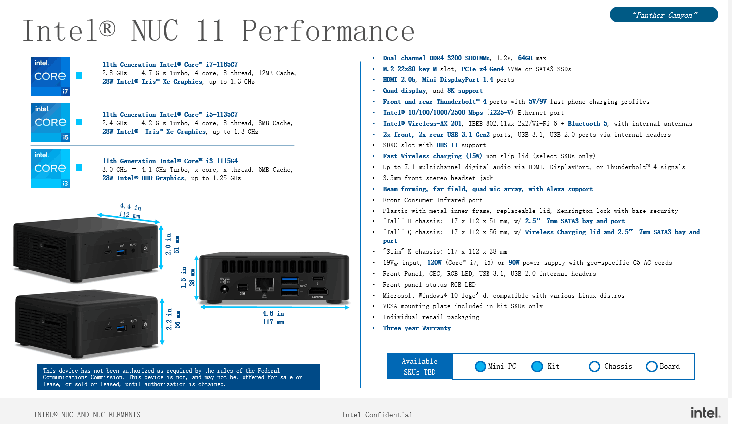 Intel готовит компактные системы NUC 11 Performance на процессорах Tiger Lake
