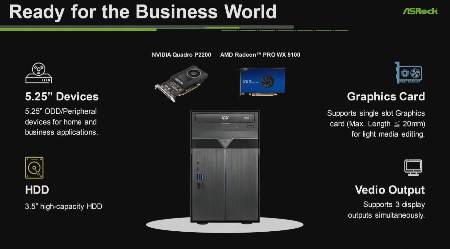 ASRock раскрыла подробности о небольшом компьютере DeskMini Max