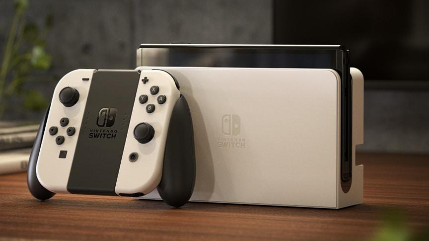Nintendo представила гибридную игровую консоль Switch OLED