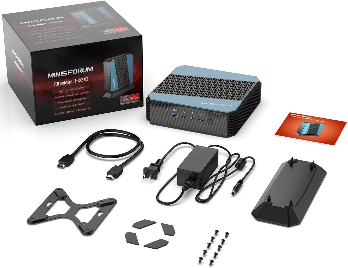 Minisforum выпустила неттоп EliteMini HX90 с процессором AMD Ryzen 9 5900HX