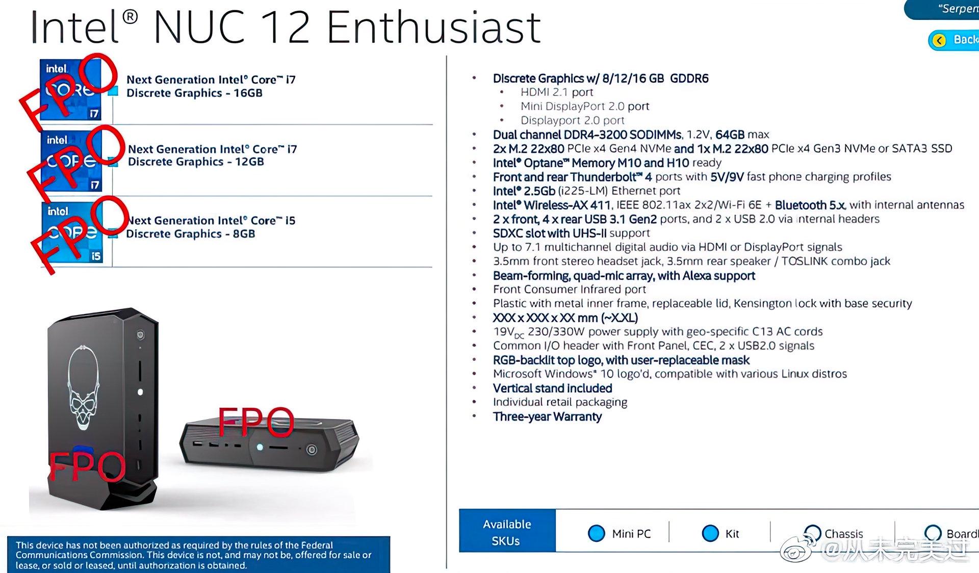 Мини-компьютер Intel NUC 12 Enthusiast сочетает процессоры Alder Lake и дискретную графику DG2