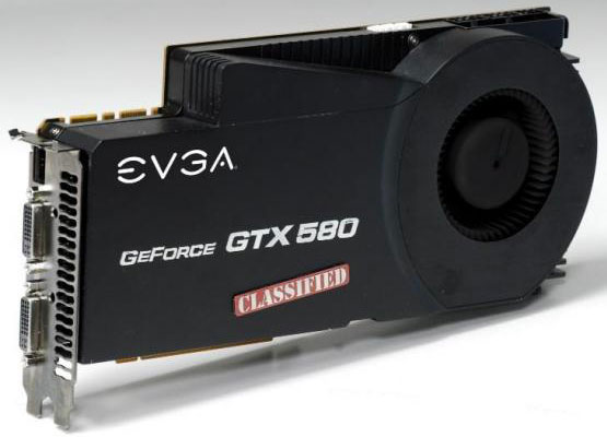 Видеокарта EVGA GeForce GTX 580 Classified
